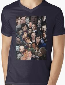 Benedict Cumberbatch Collage Mens V-Neck T-Shirt