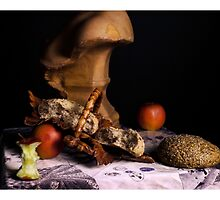 rembrandt style still life by wiazemsky