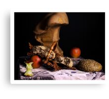 rembrandt style still life Canvas Print