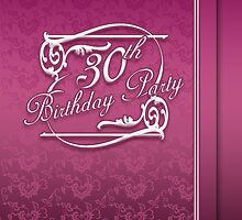 30th Birthday Party Invitation Modern  by Moonlake