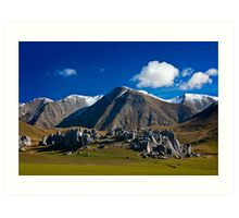 Mountain Scene - New Zealand Art Print