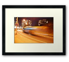 Night bus back to the future Framed Print