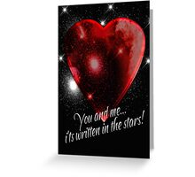 Valentine's Day Card With Stars And Heart  Greeting Card