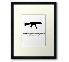 Eight-hundred problems Framed Print