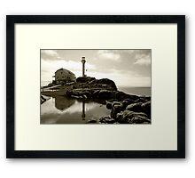 Cape Forchu Lighthouse, Yarmouth, NS Framed Print