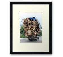 Somebody is moving? Framed Print