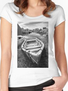 Abandoned Boat Women's Fitted Scoop T-Shirt