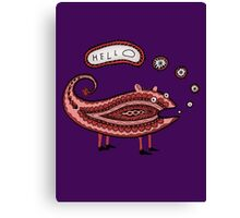 Paisley Chameleon says Hello Canvas Print
