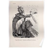 Cartoons by Sir John Tenniel selected from the pages of Punch 1901 0031 Papal Allocution Snuffing out Modern Civilization Poster