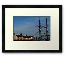 Tall Ships of Charlestown Framed Print