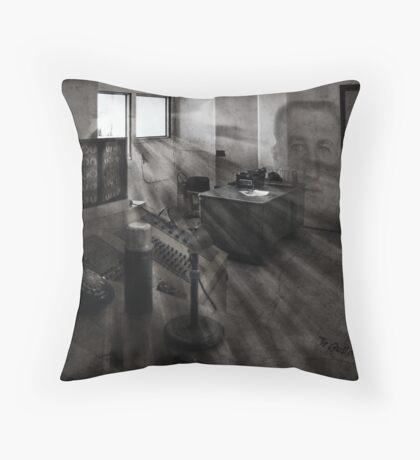 "The Ghosts of Alcatraz ""Jim Quillen "" Throw Pillow"