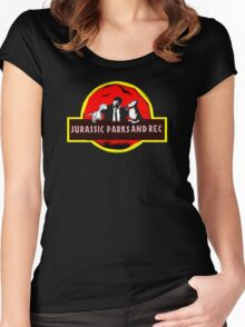 jurassic parks and rec Women's Fitted Scoop T-Shirt