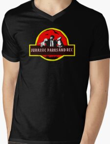 jurassic parks and rec Mens V-Neck T-Shirt