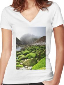 Lulworth Cove  Women's Fitted V-Neck T-Shirt