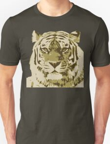 Tiger head in three colors Unisex T-Shirt