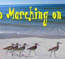 Willets Go Marching Sticker
