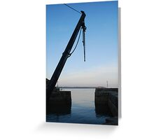 Hoist at Charlestown Harbour Greeting Card