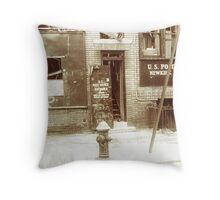 Brooklyn Post Office Throw Pillow
