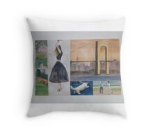 Joyful New York Throw Pillow