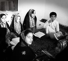 Students reciting Quran by Suhail Shah