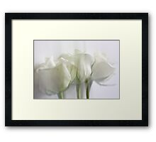 Dreaming in white Framed Print