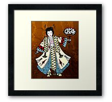 Asian Paper Doll Framed Print