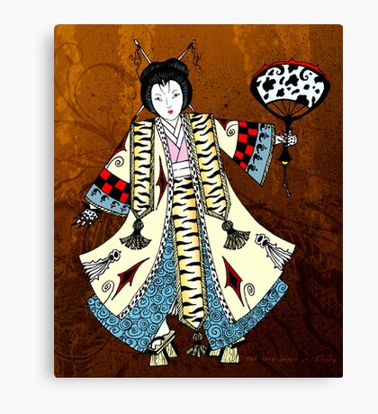 Asian Paper Doll Canvas Print