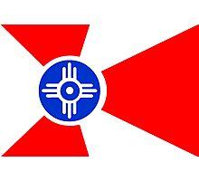 Flag of Wichita, Kansas. Photographic Print