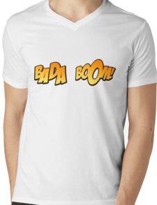 Bada Boom Mens V-Neck T-Shirt