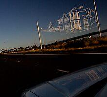 Westgate Freeway sky sculpture by Col  Finnie