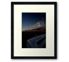 Westgate Freeway sky sculpture Framed Print