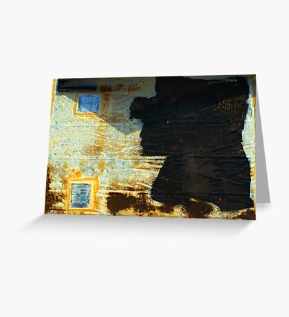 Abstract garage roof Greeting Card