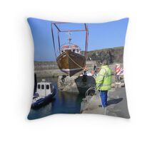 Flying Boat Throw Pillow