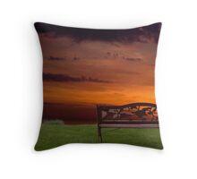Sunrise on the Bay of Fundy, Nova Scotia Throw Pillow