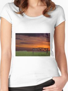 Sunrise on the Bay of Fundy, Nova Scotia Women's Fitted Scoop T-Shirt