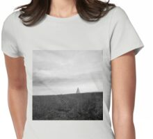 landscape with a pyramid  Womens Fitted T-Shirt