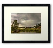 Lightning Striking Over Rollinsville Colorado Framed Print