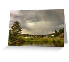 Lightning Striking Over Rollinsville Colorado Greeting Card