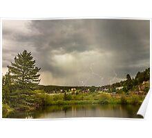 Lightning Striking Over Rollinsville Colorado Poster