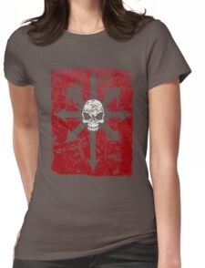 Khaos Red Womens Fitted T-Shirt