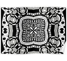 Black and White Retro Abstract Design Poster
