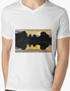 Sunset Reflection Mens V-Neck T-Shirt