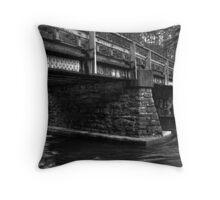 Bridge at Rice Dam Throw Pillow