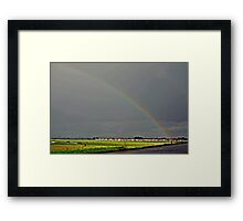IT CAME DOWN IN BUCKETS AND BARRELS Framed Print