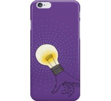Runaway Idea lightbulb hand iPhone Case/Skin