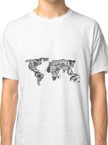 Map of the World Zentangle Classic T-Shirt