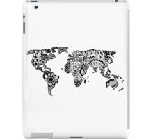 Map of the World Zentangle iPad Case/Skin