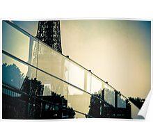 Eiffel through glass Poster