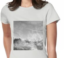 wood in the clouds  Womens Fitted T-Shirt
