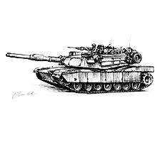 M1 Abrams Tank Drawing Photographic Print